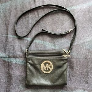 Black/Gold Michael Kors Crossbody Bag